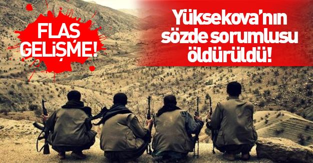PKK'nın sözde Yüksekova sorumlusu öldürüldü!