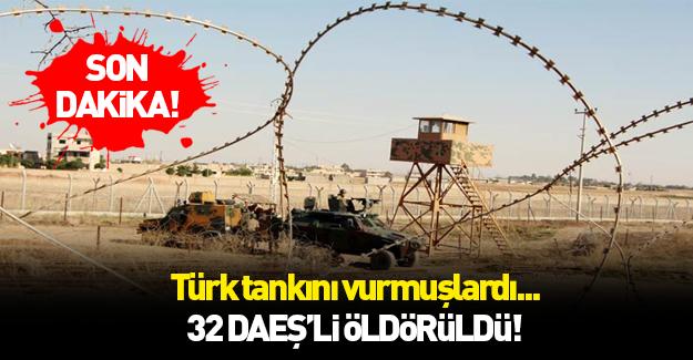 Türk tankına saldıran DAEŞ'liler öldürüldü