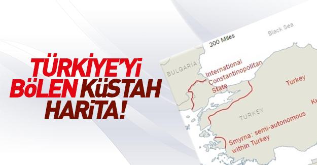 ABD'den Türkiye'yi bölen küstah harita!