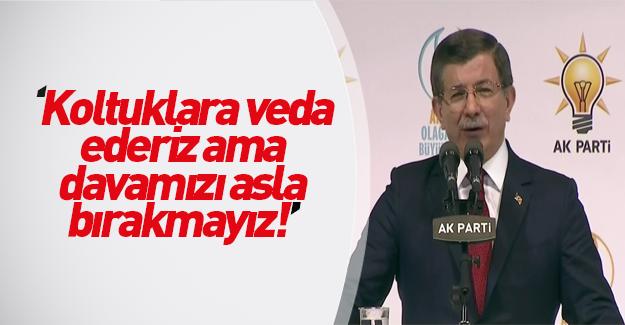 Ahmet Davutoğlu veda konuşmasını yaptı