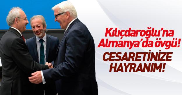 Alman siyasetçiden Kılıçdaroğlu'na övgü
