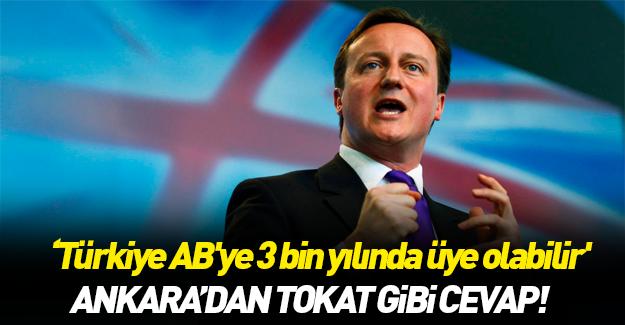 Ankara'dan Cameron'a tokat gibi cevap