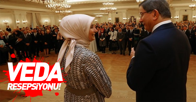 Başbakan Davutoğlu'ndan veda resepsiyonu