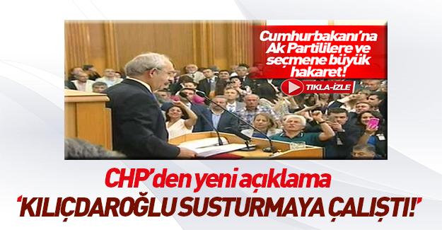CHP'den grup toplantısındaki sloganlara açıklama