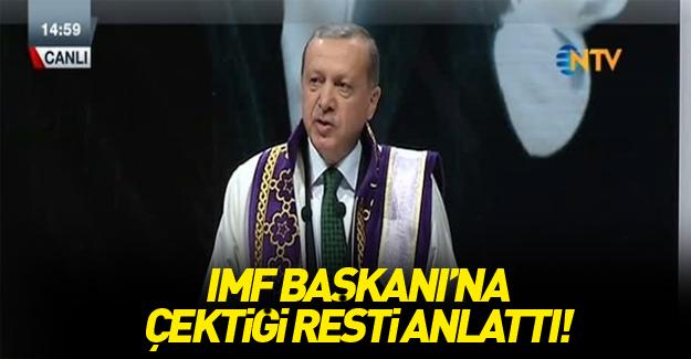 Cumhurbaşkanı Erdoğan: IMF başkanını uyardım