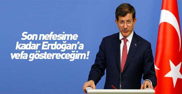 Davutoğlu: Erdoğan'ın onuru benim onurumdur