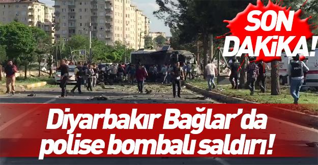 Diyarbakır'da polis ekiplerine bombalı saldırı