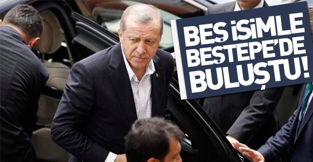 Erdoğan 5 isimle Beştepe'de toplantı yaptı