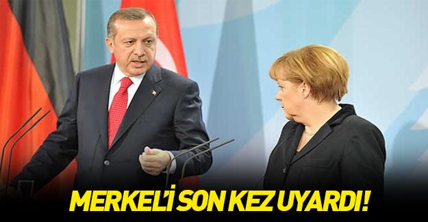 Erdoğan'dan Merkel'e flaş çağrı!