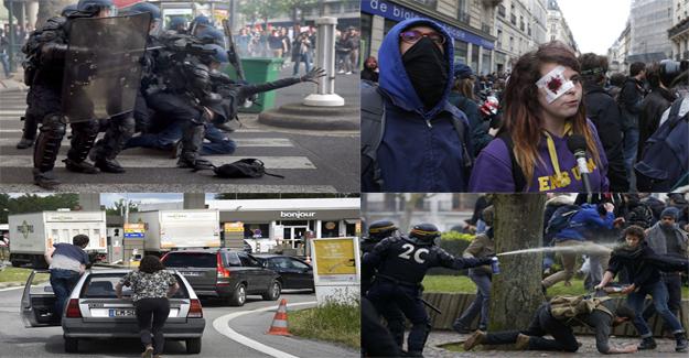 Fransa'da grev dalgası