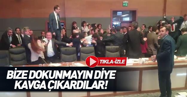 HDP'liler yine kavga çıkardı!