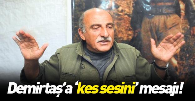 PKK'lı Duran Kalkan'dan Demirtaş'a ayar