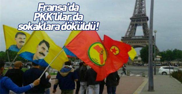 PKK yandaşları Paris'te yürüyüş yaptı