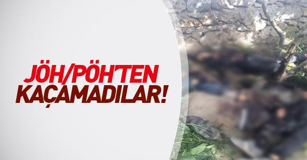 Şemsiye ile kaçmaya çalışan 9 terörist öldürüldü