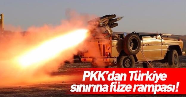 Terör örgütü PKK/PYD'den Türkiye sınırına füze rampası!