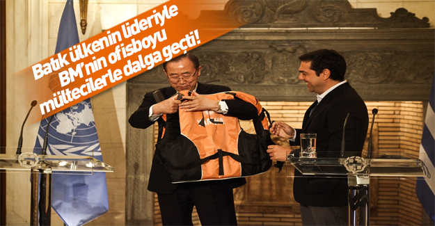 BM Genel Sekreteri Ban Ki-Moon Atina'da!