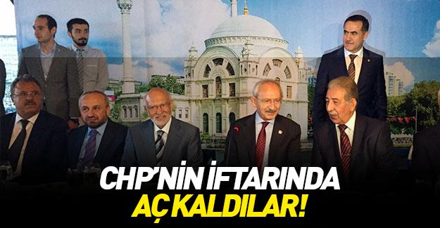 CHP'nin iftarında aç kaldılar