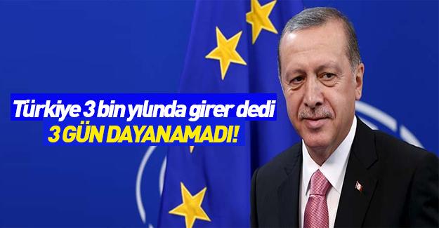 Cumhurbaşkanı Erdoğan: David Cameron 3 gün dayanamadı