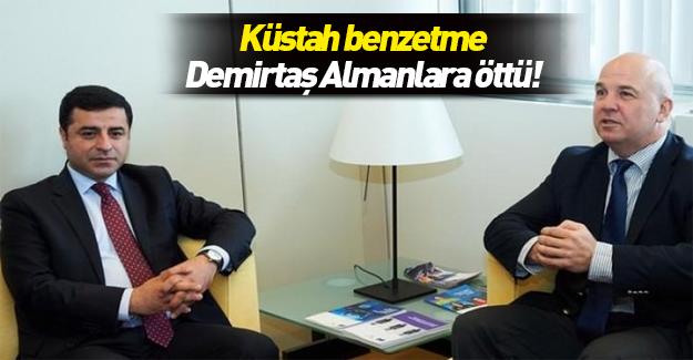 Demirtaş'tan Erdoğan hakkında küstah benzetme