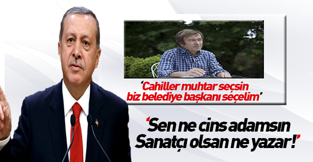 Erdoğan'dan Erol Evgin'e: Ne cins adamsın sen ya