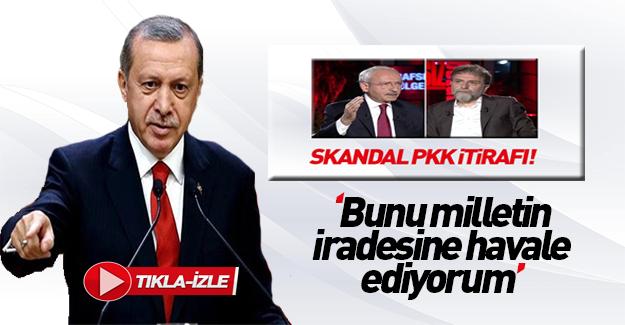 Erdoğan'dan Kılıçdaroğlu'na PKK ve DHKP-C tepkisi