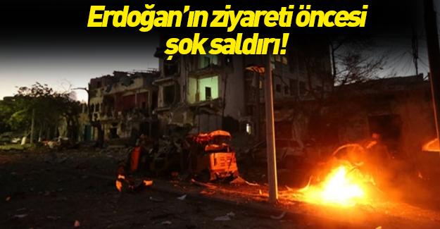 Erdoğan'ın ziyareti öncesi saldırdılar!