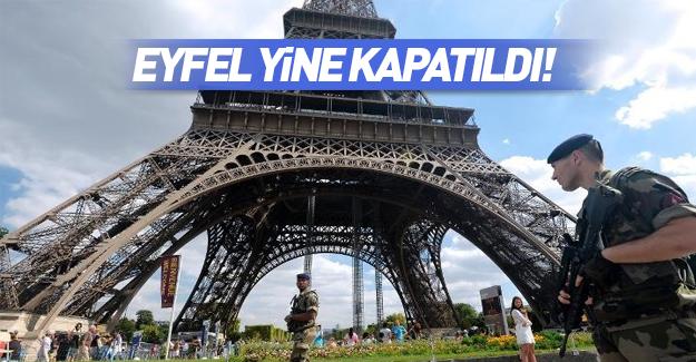 Eyfel Kulesi turistlere kapatıldı