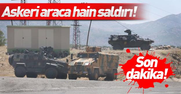 Hakkari'de askeri araca hain saldırı!