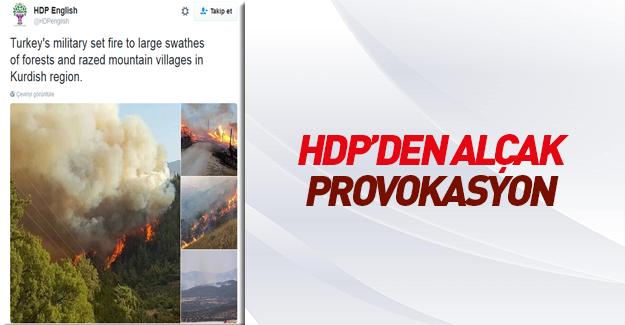 HDP'den alçak provokasyon