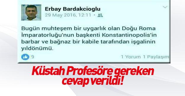 Küstah profesör açığa alındı!