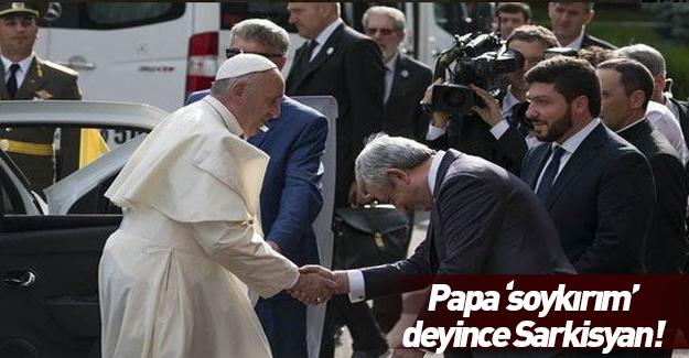 Papa sözde soykırım anıtını ziyaret etti