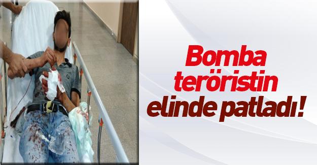 Pendik'te elinde bomba patlayan terörist yakalandı