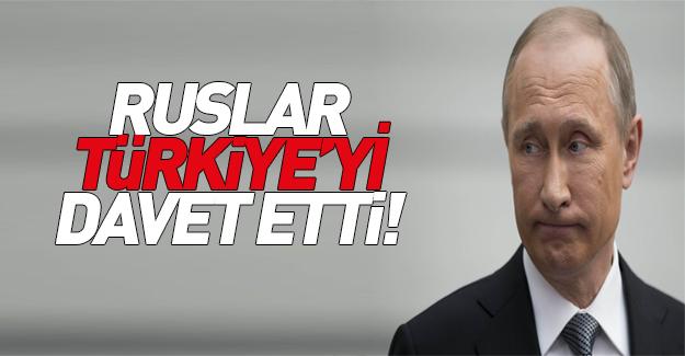 Rusya Türkiye'ye davette bulundu