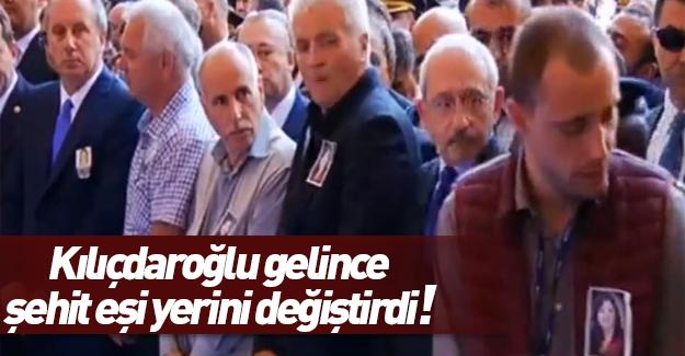 Şehidin eşi cenazede Kılıçdaroğlu'nun yanında durmadı