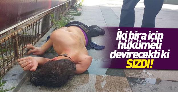 Taksim'de baygın halde bulunan genç hastaneye kaldırıldı