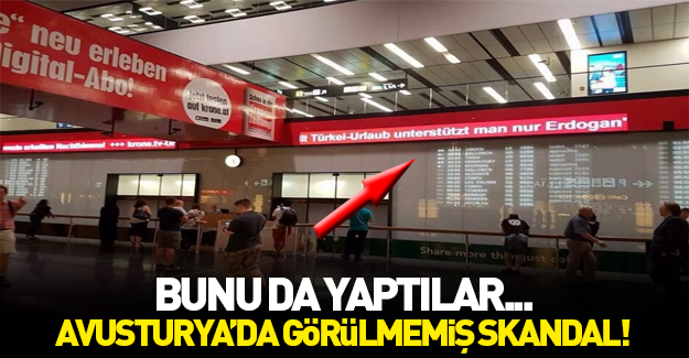 Avusturya'da çirkin Türkiye afişi