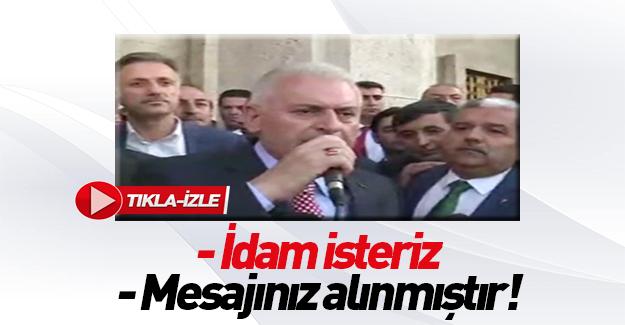 Başbakan Yıldırım'dan idam açıklaması: Gerekeni yapacağız