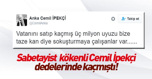 Cemil İpekçi'den tartışılacak tweet