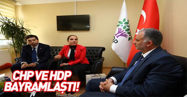 CHP ve HDP bayramlaştı