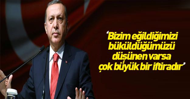 Cumhurbaşkanı Erdoğan'dan İsrail eleştirilerine cevap