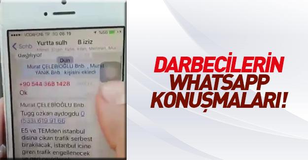 Darbecilerin WhatsApp görüşmeleri