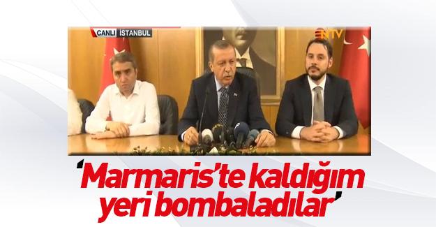 Erdoğan'ın kaldığı yeri bombaladılar!