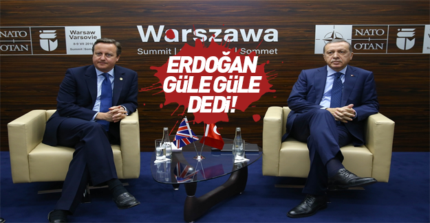 Erdoğan İngiltere Başbakanı Cameron'la görüştü