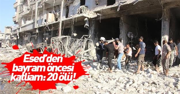 Esed sivil katliamına devam ediyor!