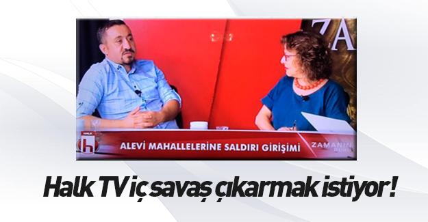 Halk TV'den canlı yayında iç savaş performansı