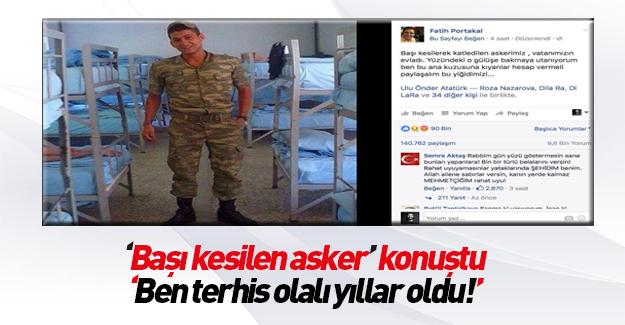 """""""Kafası kesilen asker"""" diye fotoğrafı paylaşılan Burak Salıvermez konuştu"""