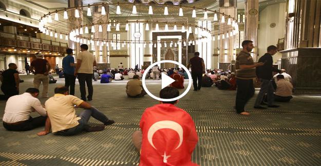 Sabah ezanını Beştepe'de Erdoğan okudu