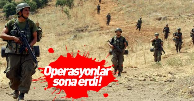 TSK açıkladı: Operasyon sona erdi!