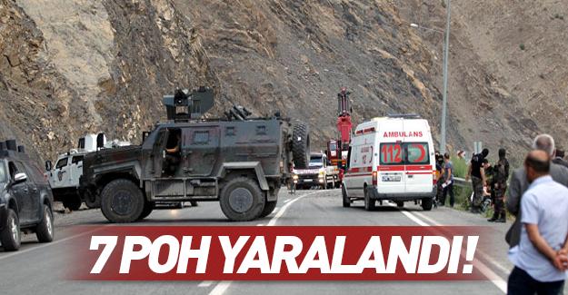 Zırhlı araç kaza yaptı: 7 polis yaralandı