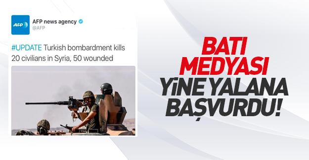AFP'nin Türkiye Suriyelileri vuruyor yalanı